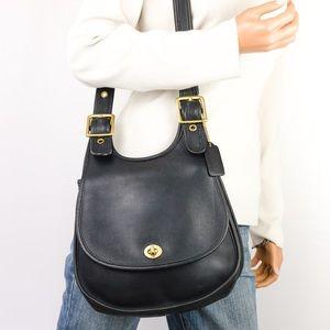 COACH Vintage Black Legacy Leather Hippie Bag 9988